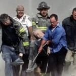 Father Mychal Judge is carried from the World Trade Center on September 11, 2001.